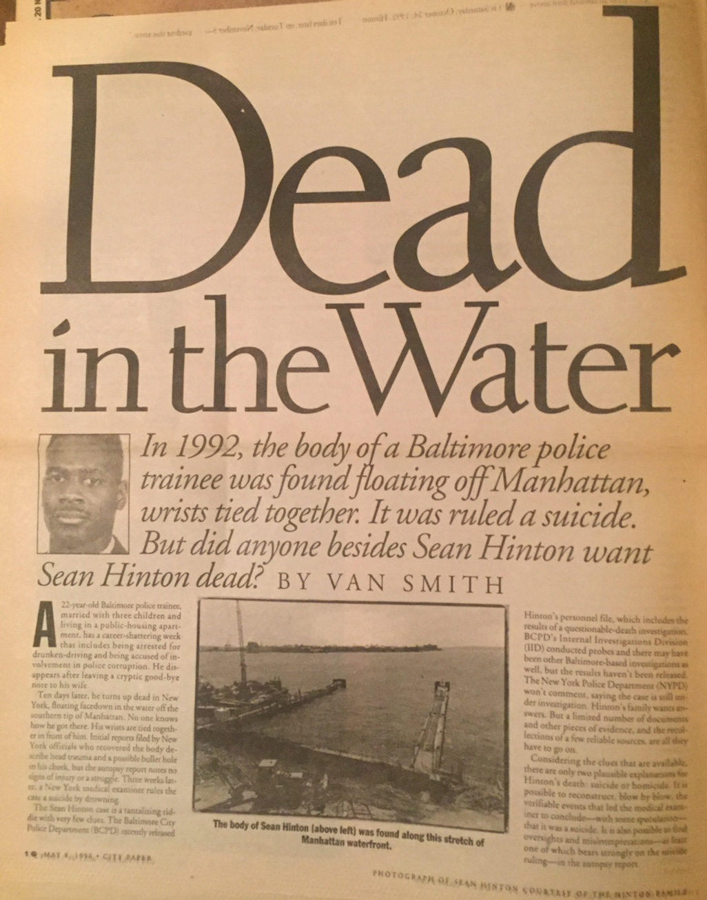 Dead in the Water: In 1992, the Body of a Baltimore Police Trainee