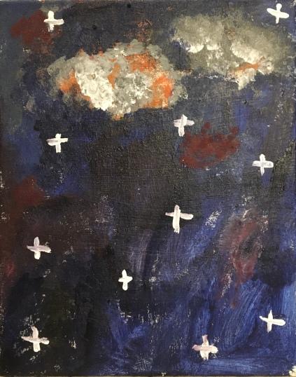 The ten-year-old's night sky.